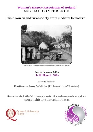 2016 Women's History Association of Ireland Conference