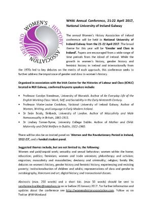 2017 Women's History Association of Ireland Conference