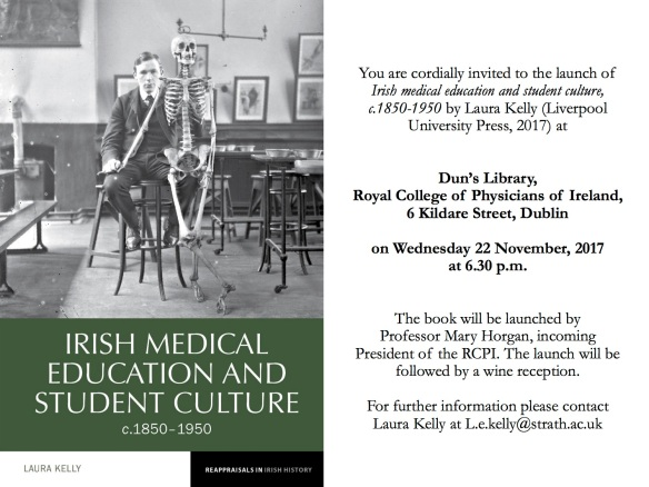 Book Launch invite Irish medical education