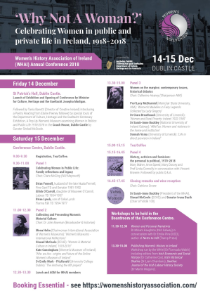 2018 Women's History Association of Ireland Conference
